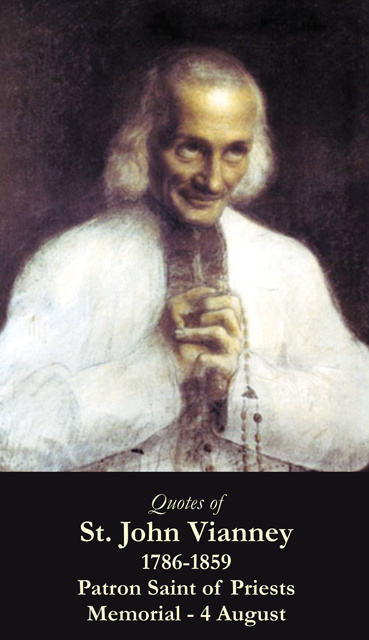 St. John Vianney Prayer Card