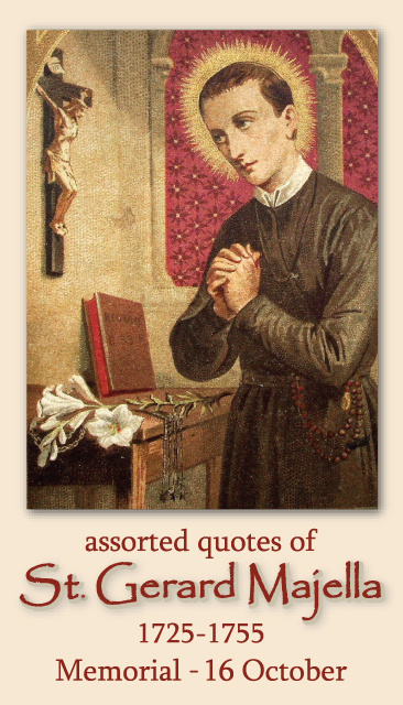 St. Gerard Majella Prayer Card
