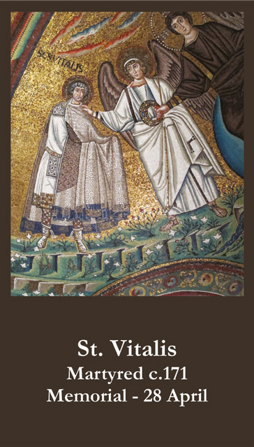 St. Vitalis Prayer Card
