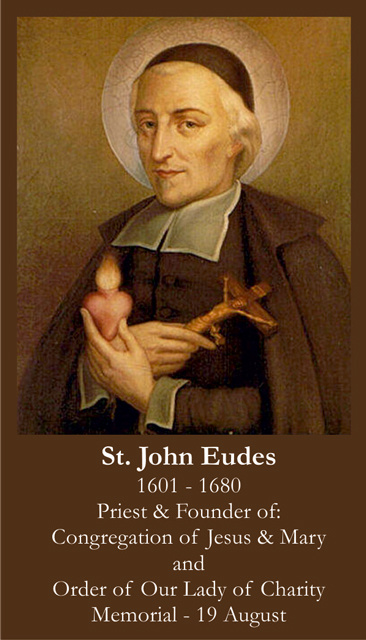 St. John Eudes Prayer Card
