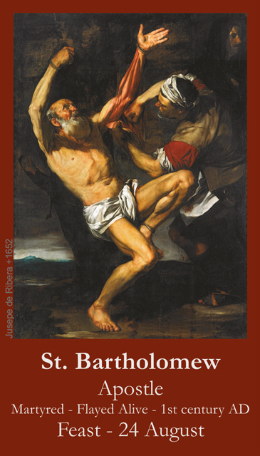 St. Bartholomew the Apostle Prayer Card