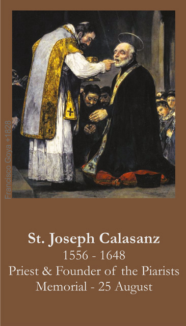 St. Joseph Calasanz Prayer Card