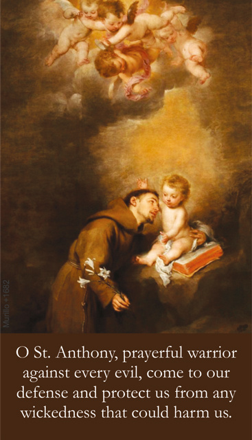 St. Anthony's Brief Prayer Card