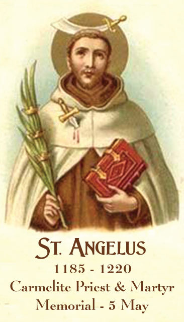 St. Angelus Prayer Card