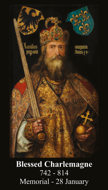 Blessed Charlemagne Prayer Card