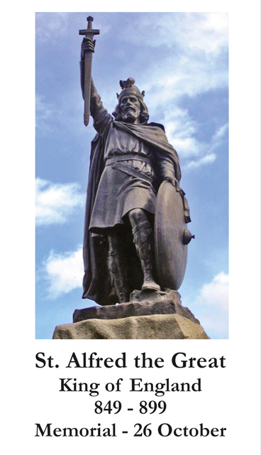 St. Alfred the Great Prayer Card