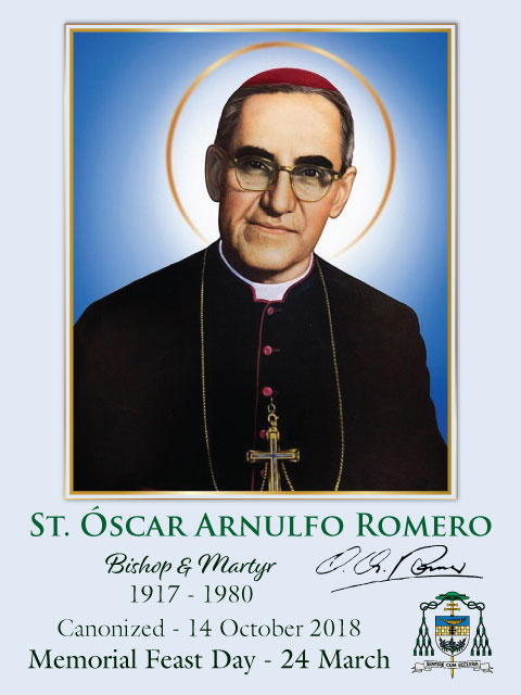 Special Limited Edition Collector's Series Commemorative St. Oscar Romero Canonization Holy Cards