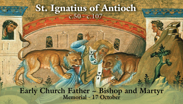 St. Ignatius of Antioch Prayer Card