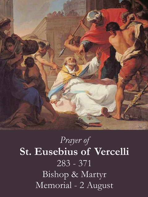 St. Eusebius of Vercelli Prayer Card