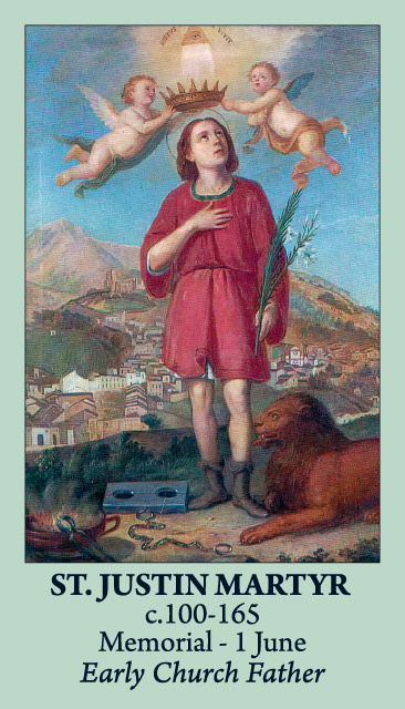 St. Justin Martyr Prayer Card