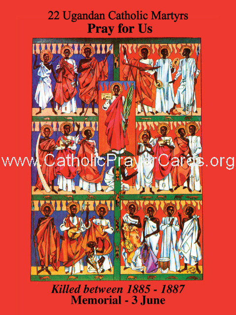 *LARGE* Ugandan Martyrs Holy Card