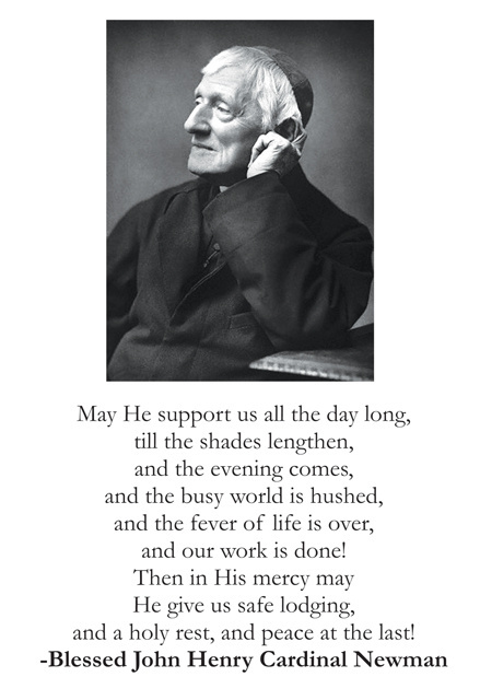 Blessed John Henry Cardinal Newman Prayer Card (LARGE)