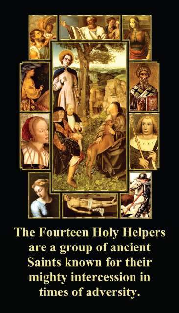 Fourteen Holy Helpers (AGAINST PANDEMICS & DISEASE) Prayer Card***ONEFREECARDFOREVERYCARDYOUORDER***
