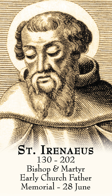 St. Irenaeus Prayer Card