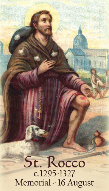 St. Rocco Prayer Card