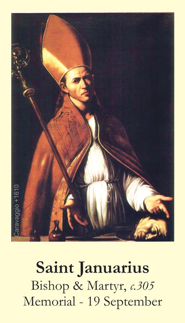 St. Januarius Prayer Card