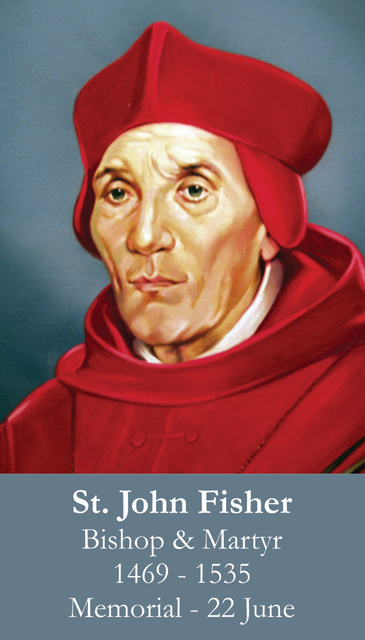St. John Fisher Prayer Card