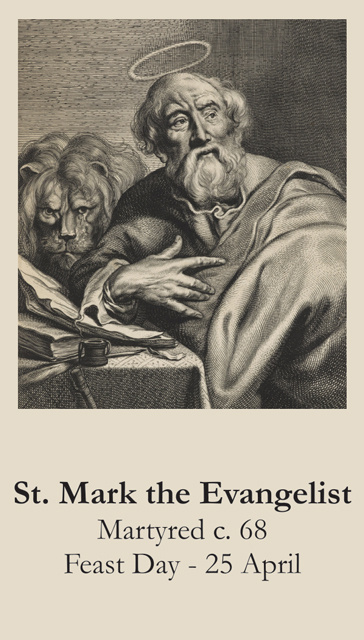 St. Mark Prayer Card