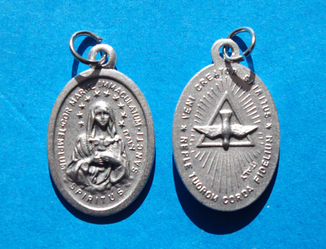 Immaculate Heart of Mary / Holy Spirit Medal***BUYONEGETONEFREE***