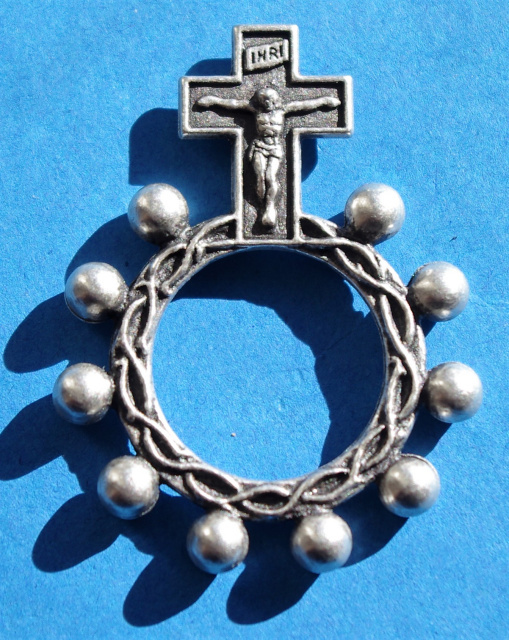 Metal Rosary Ring