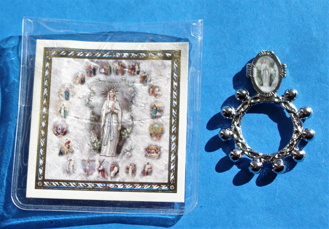 Our Lady of Lourdes Rosary Ring