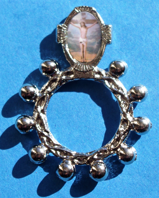 Crucifixion Rosary Ring