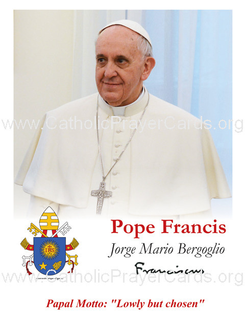Pope Francis Holy Card (LARGE)