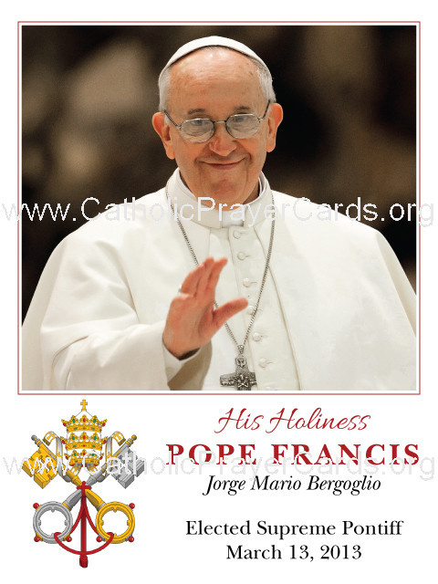Pope Francis Prayer Card (LARGE)