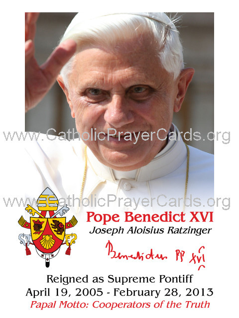 *ENGLISH* Special Limited Edition Collector's Series Commemorative Pope Benedict XVI Prayer Card (LA