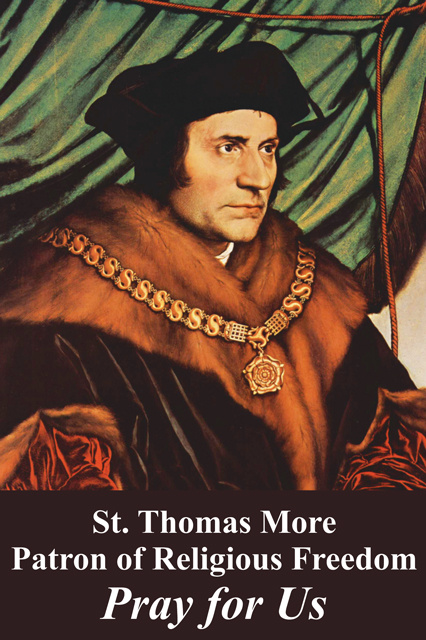 *ENGLISH* Religious Liberty Prayer Card - St. Thomas More