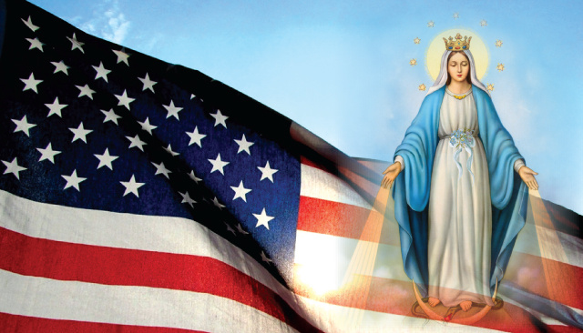 Pray for the USA Holy Card