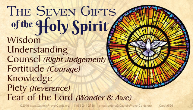 Seven Gifts of the Holy Spirit/Seven Sacraments Card***BUYONEGETONEFREE***
