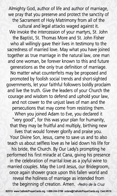 Prayer to Defend Marriage