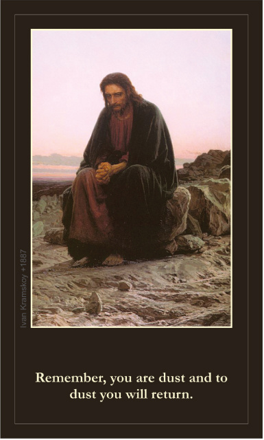 *LARGE* Lenten Prayer Card