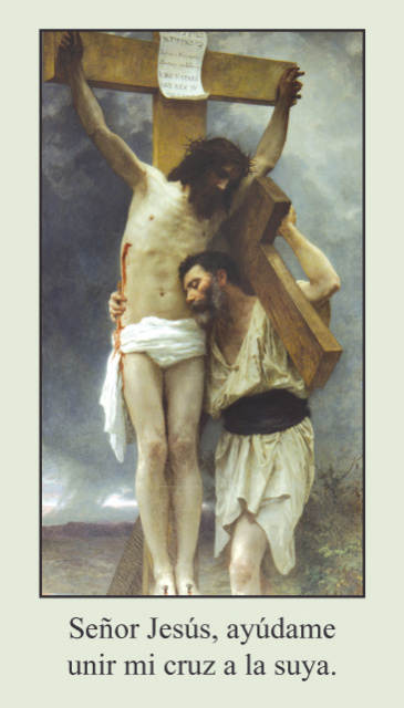 Stations of the Cross Prayer Card-SPANISH