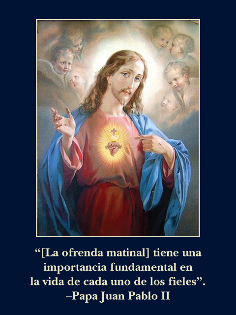 * SPANISH * Morning Offering Prayer Card