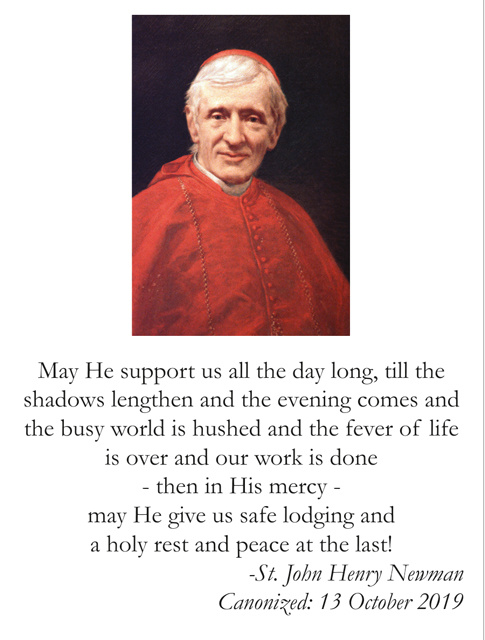 Special Limited Edition Collector's Series Commemorative Cardinal John Henry Newman Canonization Hol