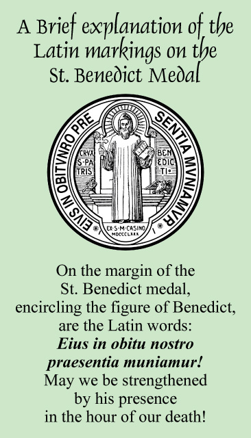 St. Benedict Medal Prayer Card