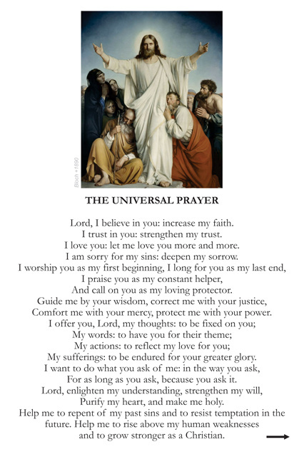 Universal Prayer Card (LARGE)