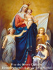 Queen of Peace with Rosary Holy Card