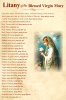 Litany of the Blessed Virgin Mary Prayer Card