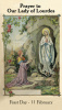 Our Lady of Lourdes Prayer Card***BUYONEGETONEFREE***