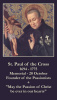 Oct 20th: St. Paul of the Cross Prayer Card***BUYONEGETONEFREE***