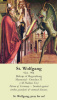 St. Wolfgang Holy Card