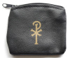 Black Calf Grain Vinyl Rosary Case