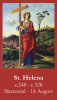 St. Helena Prayer Card