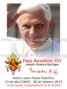 *SPANISH* Limited Edition Collector's Series Commemorative Pope Benedict XVI Prayer Card