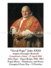 **ENGLISH** Special Limited Edition Collector's Series Commemorative Pope John XXIII Canonization Prayer Card (LARGE)